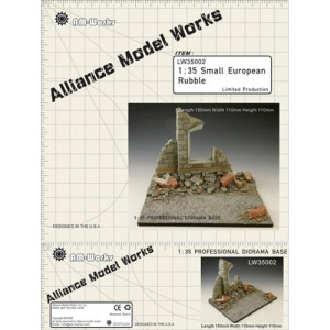 [LW35002] 1:35 small european rubble resin diorama base