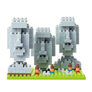 [NBH009] 모아이 Moai Statues on Easter Island 320 나노블럭